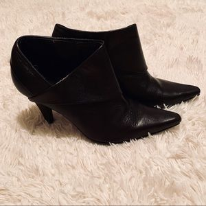 Kenneth Cole Reaction Leather Pointed Toe Bootie